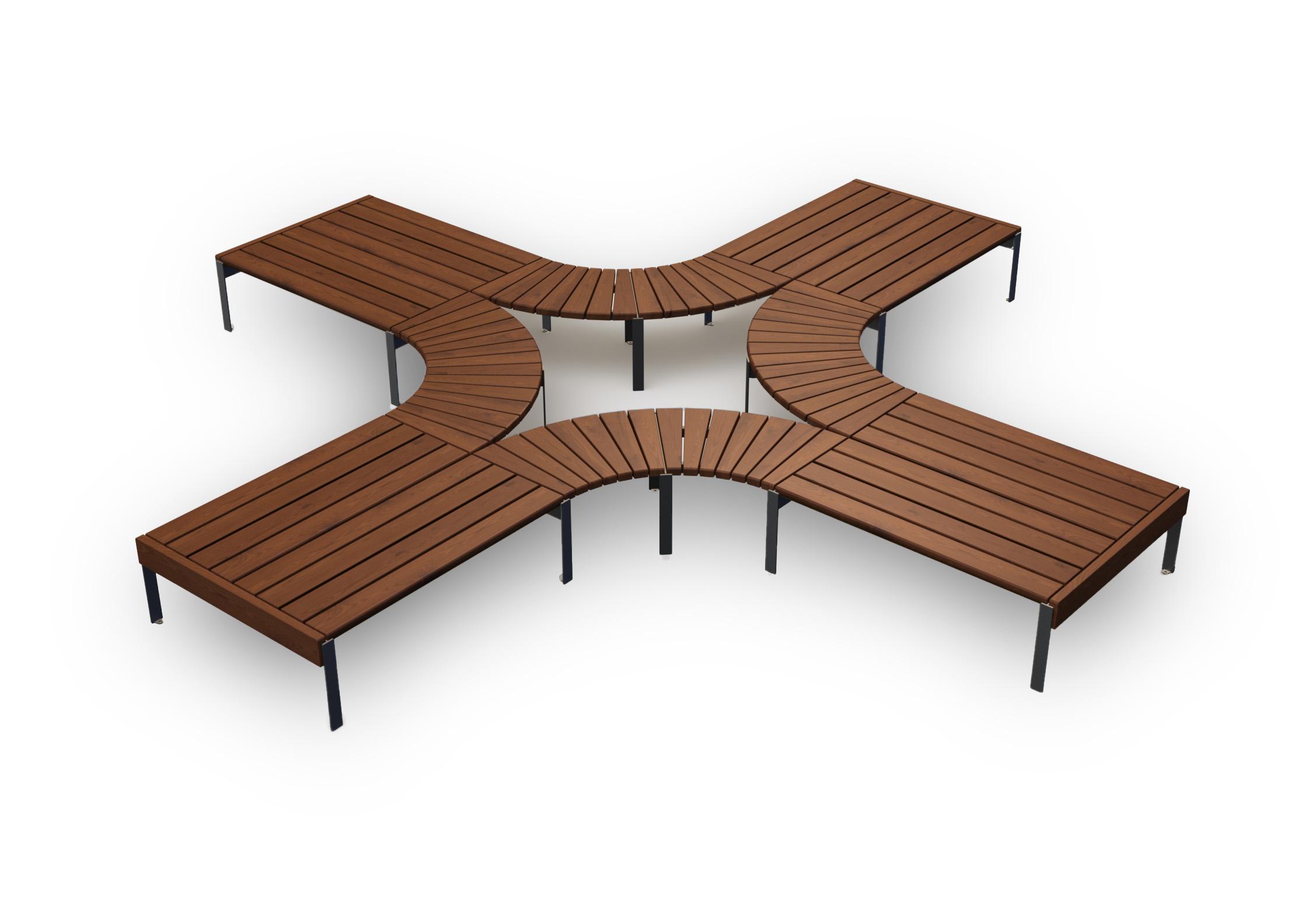 modular park bench Jada set1