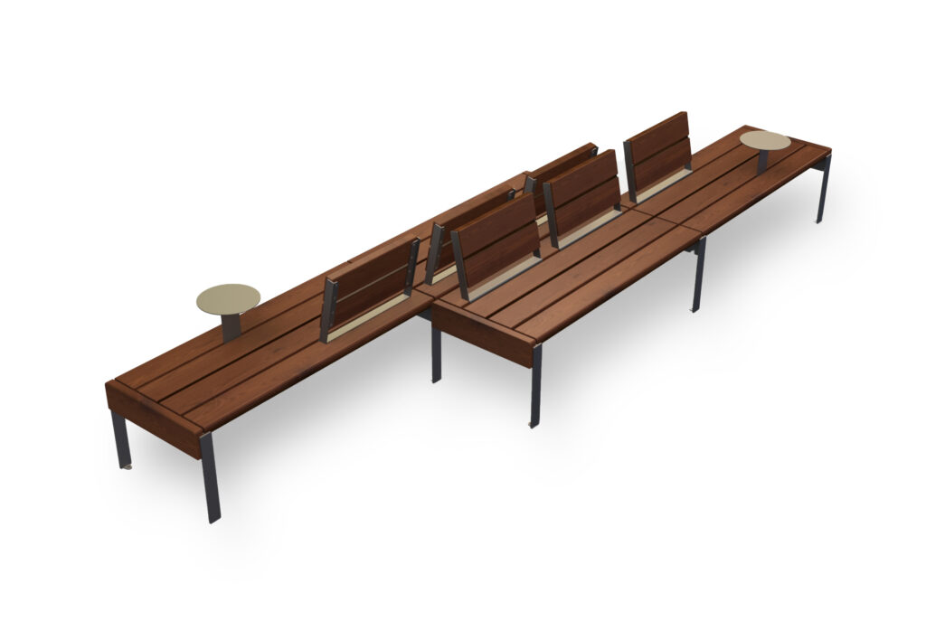 modular park bench Jada set2